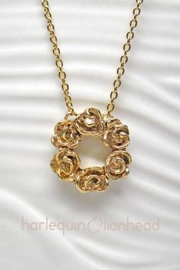 Custom Made Rose Pendant - Gold Or Rose Gold Plated With Necklace