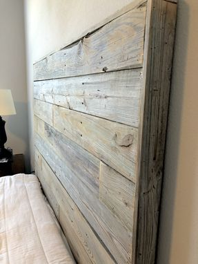 Custom Made Reclaimed Pine Headboard