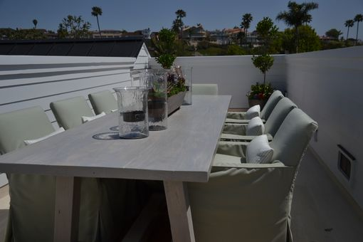 Custom Made Outdoor Dining Table And Chairs