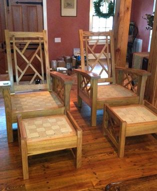 Custom Made Chinese Chippendale Morris Chairs