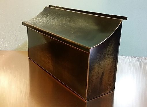Custom Made Flush Mount Patina Copper Mailbox