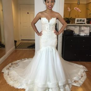 Sweetheart Strapless Trumpet Wedding Gown By Phuong Nguyen