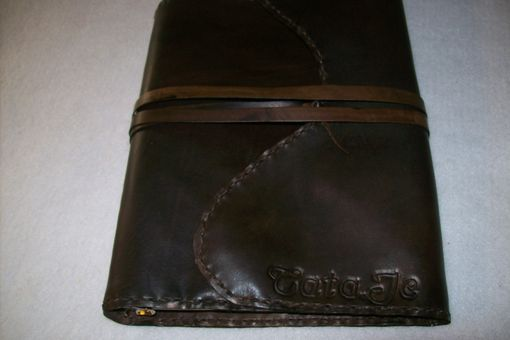 Custom Made A Leather  Notebook A5 Cover With Name