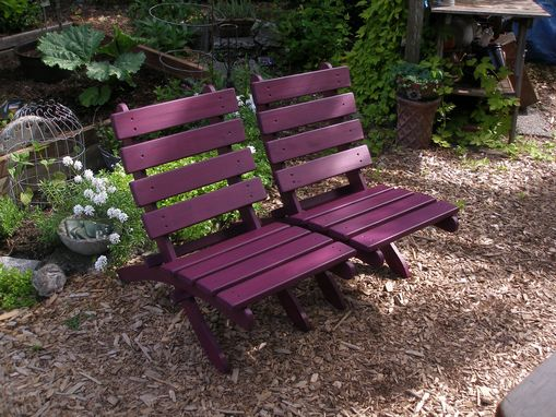 Custom Made Laughing Creek Egg Plant Color Storable Cedar Chair - Simply Beautiful!