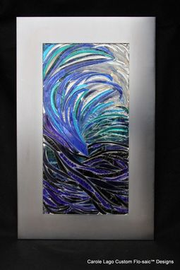 "Custom Made Flo-Saic Designed Art Glass ""Surf"""