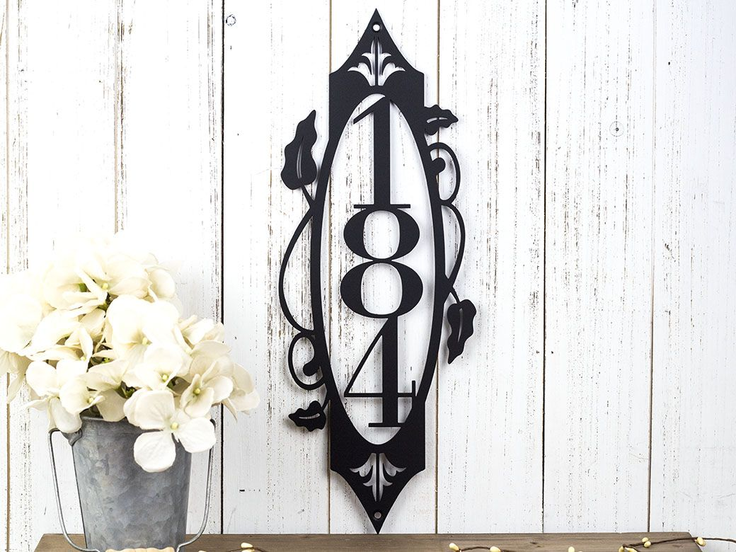 Buy A Hand Made Vertical House Number Sign