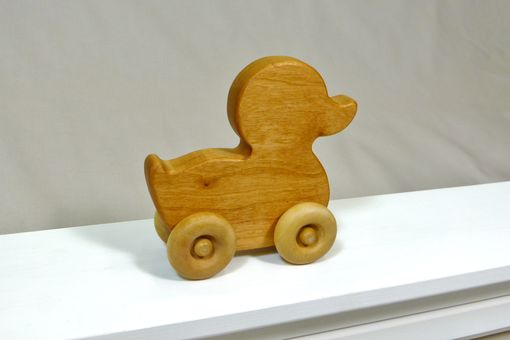 Custom Made Wooden Toy Duck - Customized With Name
