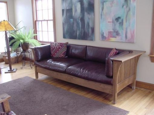 Custom Made Oak Craftsman Sofa