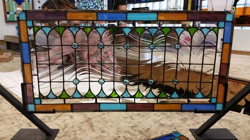 Custom Made P-150 Victorian Teardrops-Stained Glass Panel
