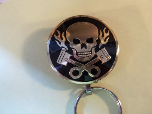 Custom Made Motorcycle Chrome Skull