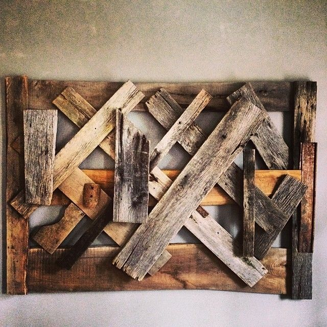 Unique Wood Wall Decor : Hand made reclaimed wood wall art by ausden inc