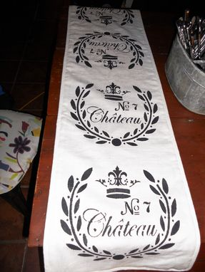 Custom Made Table Runner No. & Chateau, 50l X 12w