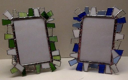 Custom Made Chunky Stained Glass Picture Frame 5 X 7 (F-4)