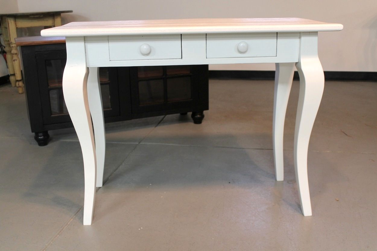 Custom Made Small White Wood Desk