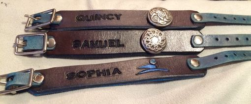 Custom Made Leather I.D. Bracelets