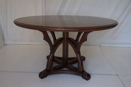 Custom Made Walnut Dining Or Entry Table   Extraordinaire ! ! !.