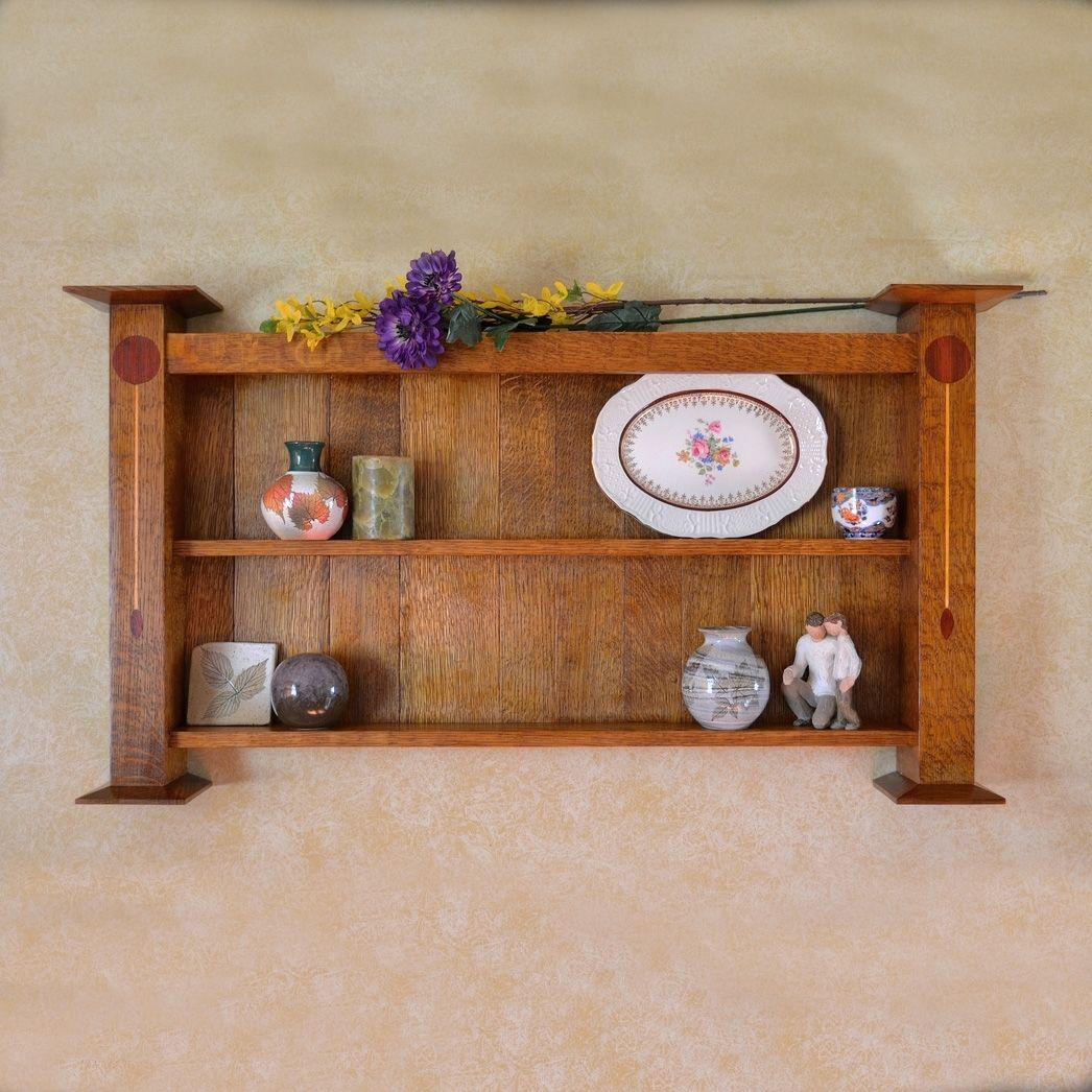 Custom Made Arts And Crafts Wall Shelf