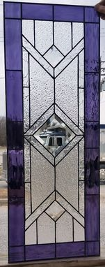 Custom Made Stained Glass Cabinet Inserts -