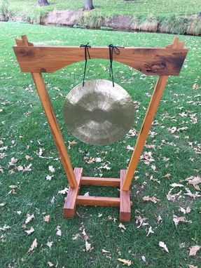 Custom Made Gong Made From Reclaimed White Oak Barn Wood