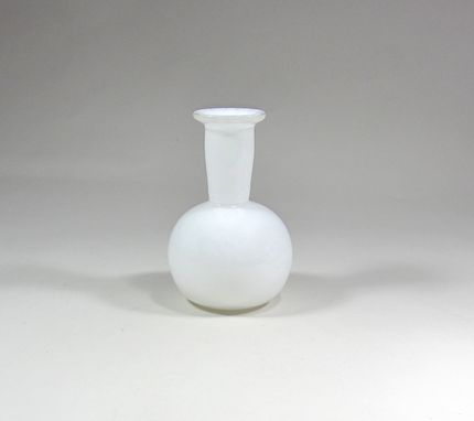 Custom Made White Glass Vase - Bud Vase - Handblown