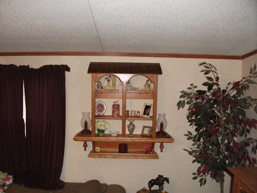 Custom Made Handmade Wall Hanging Curio Cabinet