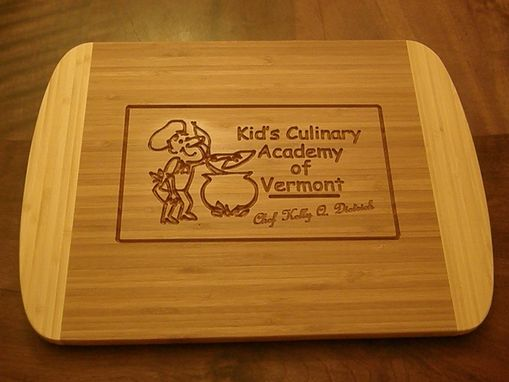 Custom Made Engraved Bamboo Cutting Board - Personalize With Your Logo