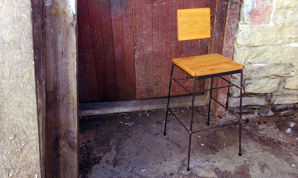 Excellent Buy Custom Reclaimed Douglas Fir Stacking Bar Stools Made Machost Co Dining Chair Design Ideas Machostcouk