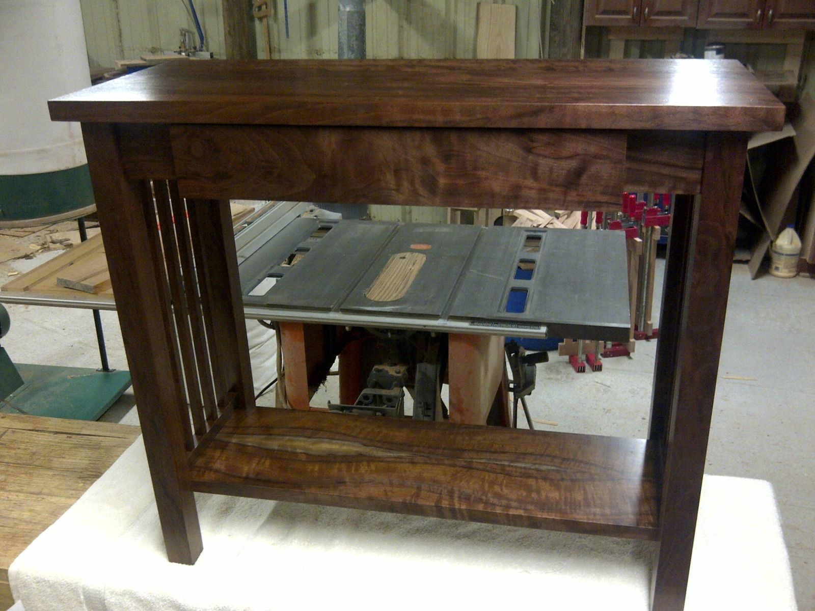 Hand Crafted Mission Style Walnut Sofa Table by Db Custom Wood