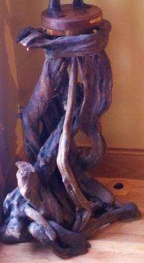 Custom Made Driftwood Art Pedestal