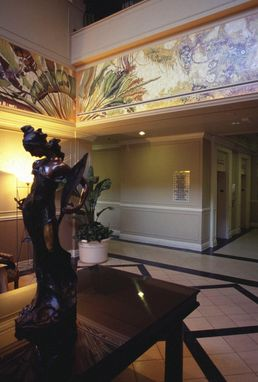 Custom Made Tropical Art Deco Hotel Lobby Murals