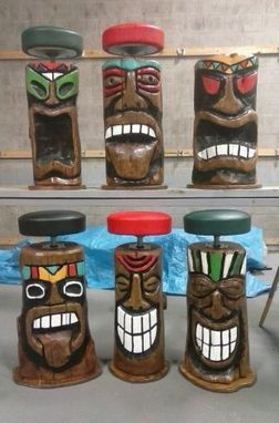 Custom Made Tiki Bar Stool