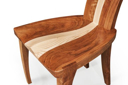 handmade modern wood dining chair in cherry and curly 11536 | 11536d526751809 gazelle high back done1