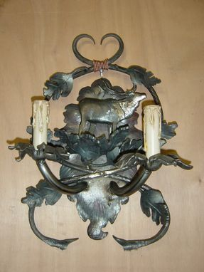 Custom Made Mountain Style Wall Sconce