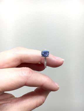 Custom Made Timeless Diamond Setting, Engagement Ring With Sapphire Or Any Gemstone