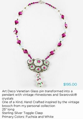 Custom Made Art Deco Venetian Glass Necklace