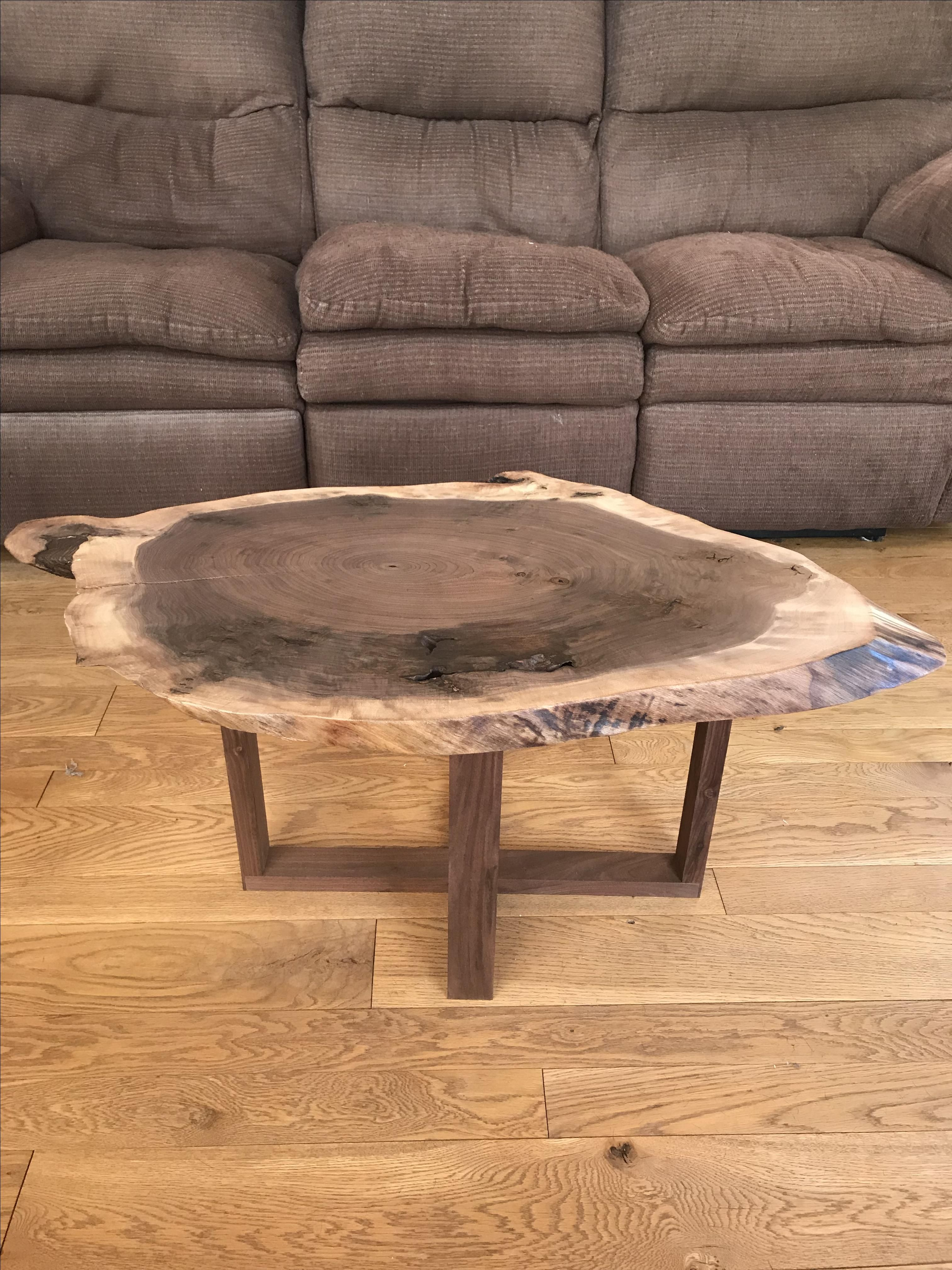Picture of: Hand Crafted Live Edge Walnut Coffee Table By Martin Rustics Custommade Com