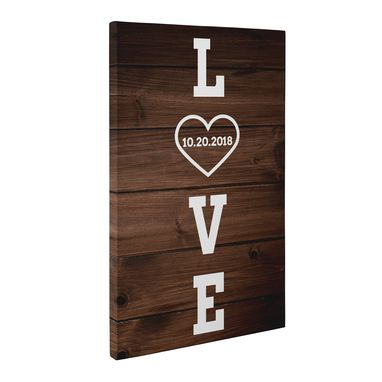 Custom Made Love Date Canvas Wall Art