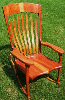 Custom Made Cherry Rocking Chair