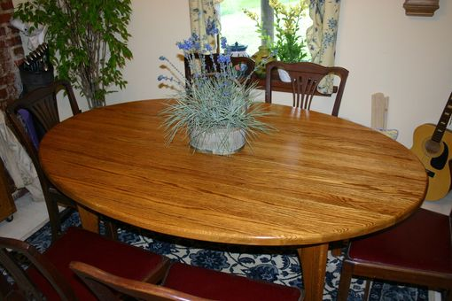 Custom Made Solid Oak Elliptical Dining Table