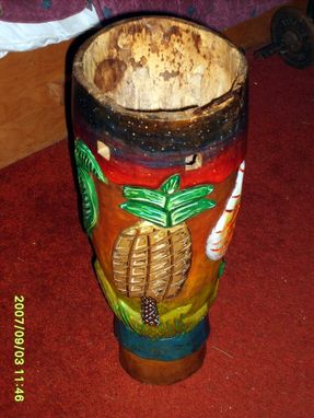 Custom Made Painted Hand Craved Drum
