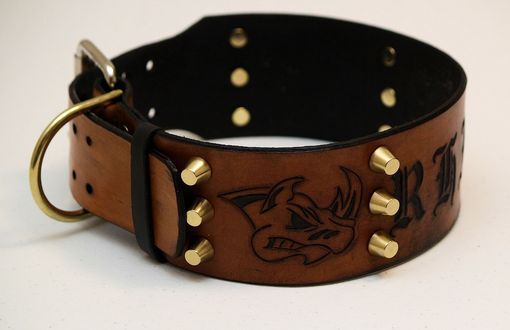 Custom Made Custom Leather Dog Collar... Rhino