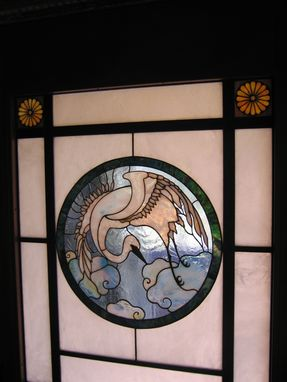 Custom Made Stained Glass Door Panel.