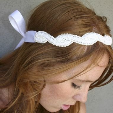 Custom Made Pearl Sash Or Headband