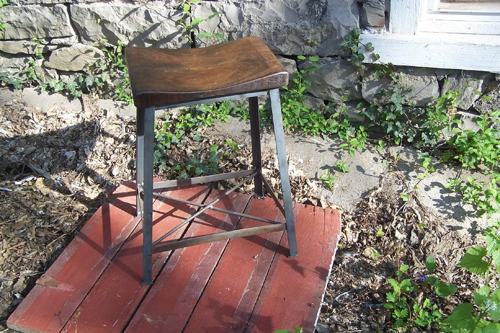 Buy A Hand Made Industrial Chic Reclaimed Wood Saddle