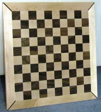 Custom Made Walnut And Maple Chess Board