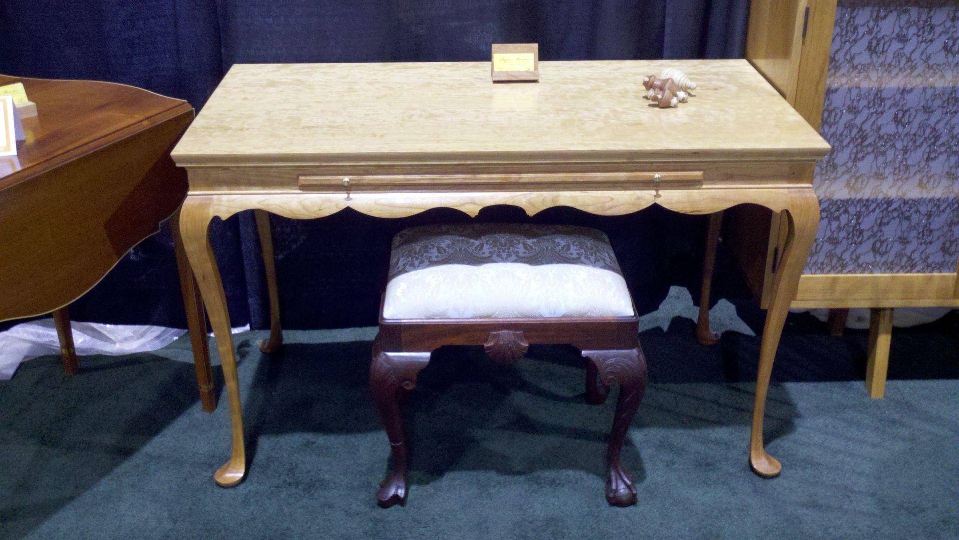 Custom Made Queen Anne Writing Desk