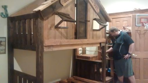 Custom Made Handmade Beach House Loft Bed With Staircase Dresser