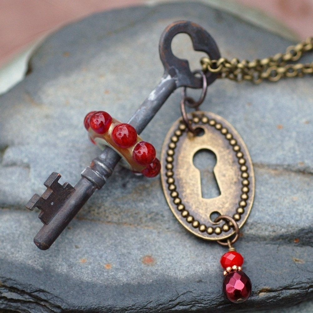 Custom Skeleton Key Necklace Steampunk Jewelry Boro