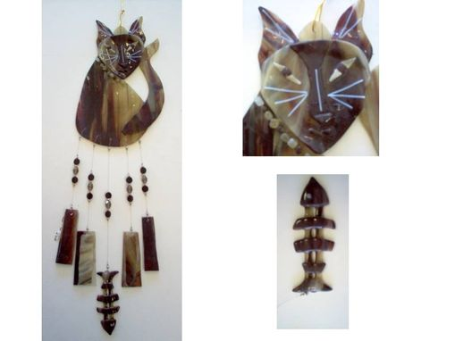 Custom Made Cat Wind Chime, Ready To Ship