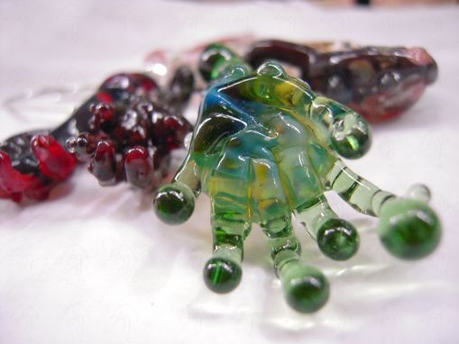 "Custom Made ""Thing"" Inspired Glass Arm Pendant - Alien Fingers Heady Focal Bead - Charm"